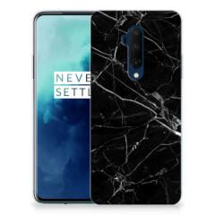 OnePlus 7T Pro TPU Siliconen Hoesje Marmer Zwart - Origineel Cadeau Vader