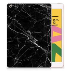 Apple iPad 10.2 (2019) | iPad 10.2 (2020) Tablet Back Cover Marmer Zwart - Origineel Cadeau Vader