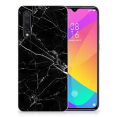 Xiaomi Mi 9 Lite TPU Siliconen Hoesje Marmer Zwart - Origineel Cadeau Vader