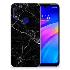 Xiaomi Redmi 7 TPU Siliconen Hoesje Marmer Zwart - Origineel Cadeau Vader