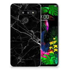 LG G8 Thinq TPU Siliconen Hoesje Marmer Zwart - Origineel Cadeau Vader