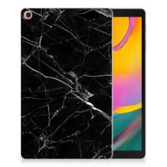 Samsung Galaxy Tab A 10.1 (2019) Tablet Back Cover Marmer Zwart - Origineel Cadeau Vader