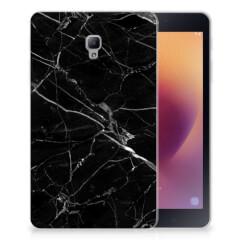 Samsung Galaxy Tab A 8.0 (2017) Tablet Back Cover Marmer Zwart - Origineel Cadeau Vader
