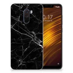 Xiaomi Pocophone F1 TPU Siliconen Hoesje Marmer Zwart - Origineel Cadeau Vader