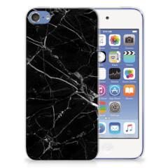 Apple iPod Touch 5 | 6 TPU Siliconen Hoesje Marmer Zwart - Origineel Cadeau Vader