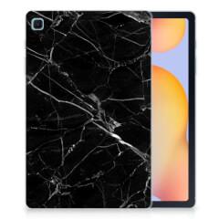 Samsung Galaxy Tab S6 Lite Tablet Back Cover Marmer Zwart - Origineel Cadeau Vader