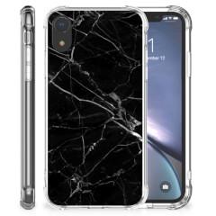 Apple iPhone Xr Anti-Shock Hoesje Marmer Zwart - Origineel Cadeau Vader