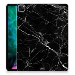 iPad Pro 12.9 (2020) Tablet Back Cover Marmer Zwart - Origineel Cadeau Vader