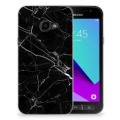 Samsung Galaxy Xcover 4 | Xcover 4s TPU Siliconen Hoesje Marmer Zwart - Origineel Cadeau Vader