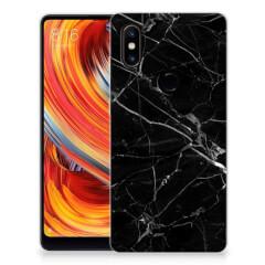Xiaomi Mi Mix 2s TPU Siliconen Hoesje Marmer Zwart - Origineel Cadeau Vader