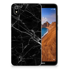 Xiaomi Redmi 7A TPU Siliconen Hoesje Marmer Zwart - Origineel Cadeau Vader