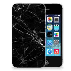 Apple iPhone 4 | 4s TPU Siliconen Hoesje Marmer Zwart - Origineel Cadeau Vader
