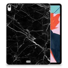 Apple iPad Pro 11 inch (2018) Tablet Back Cover Marmer Zwart - Origineel Cadeau Vader