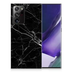 Samsung Galaxy Note20 Ultra TPU Siliconen Hoesje Marmer Zwart - Origineel Cadeau Vader