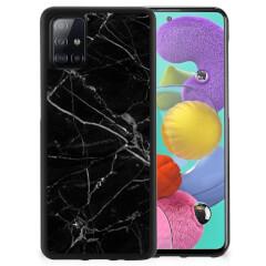 Samsung Galaxy A51 Gripcase Marmer Zwart - Origineel Cadeau Vader