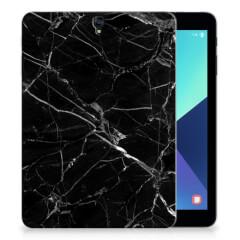 Samsung Galaxy Tab S3 9.7 Tablet Back Cover Marmer Zwart - Origineel Cadeau Vader