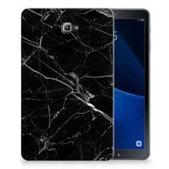 Samsung Galaxy Tab A 10.1 Tablet Back Cover Marmer Zwart - Origineel Cadeau Vader