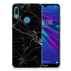Huawei Y6 2019 | Y6 Pro 2019 TPU Siliconen Hoesje Marmer Zwart - Origineel Cadeau Vader