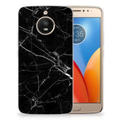 Motorola Moto E4 Plus TPU Siliconen Hoesje Marmer Zwart - Origineel Cadeau Vader