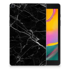 Samsung Galaxy Tab A 8.0 (2019) Tablet Back Cover Marmer Zwart - Origineel Cadeau Vader