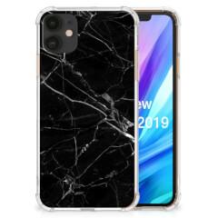 Apple iPhone 11 Anti-Shock Hoesje Marmer Zwart - Origineel Cadeau Vader