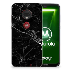Motorola Moto G7 | G7 Plus TPU Siliconen Hoesje Marmer Zwart - Origineel Cadeau Vader