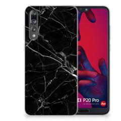 Huawei P20 Pro TPU Siliconen Hoesje Marmer Zwart - Origineel Cadeau Vader