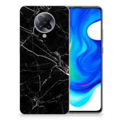 Xiaomi Poco F2 Pro TPU Siliconen Hoesje Marmer Zwart - Origineel Cadeau Vader