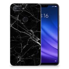 Xiaomi Mi 8 Lite TPU Siliconen Hoesje Marmer Zwart - Origineel Cadeau Vader