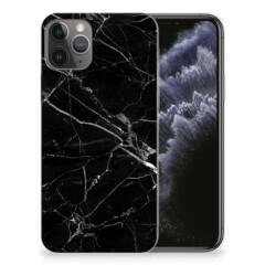 Apple iPhone 11 Pro TPU Siliconen Hoesje Marmer Zwart - Origineel Cadeau Vader