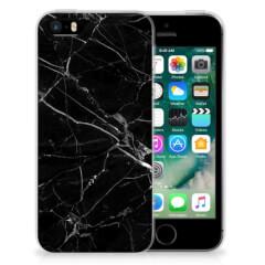 Apple iPhone SE | 5S TPU Siliconen Hoesje Marmer Zwart - Origineel Cadeau Vader