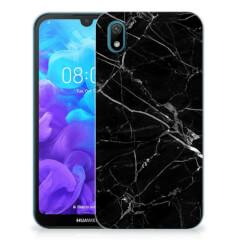 Huawei Y5 (2019) TPU Siliconen Hoesje Marmer Zwart - Origineel Cadeau Vader