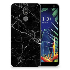 LG K40 TPU Siliconen Hoesje Marmer Zwart - Origineel Cadeau Vader