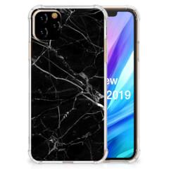 Apple iPhone 11 Pro Max Anti-Shock Hoesje Marmer Zwart - Origineel Cadeau Vader