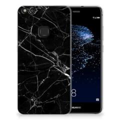 Huawei P10 Lite TPU Siliconen Hoesje Marmer Zwart - Origineel Cadeau Vader
