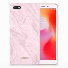 Xiaomi Redmi 6A TPU Siliconen Hoesje Marble Pink - Origineel Cadeau Vriendin