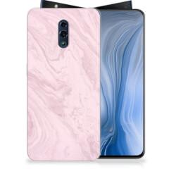OPPO Reno TPU Siliconen Hoesje Marble Pink - Origineel Cadeau Vriendin