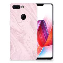 OPPO R15 Pro TPU Siliconen Hoesje Marble Pink - Origineel Cadeau Vriendin