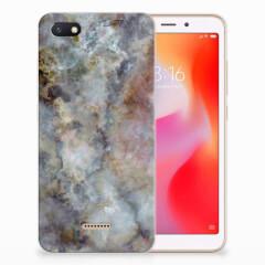 Xiaomi Redmi 6A TPU Siliconen Hoesje Marmer Grijs