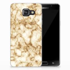 Samsung Galaxy A3 2016 TPU Siliconen Hoesje Marmer Goud