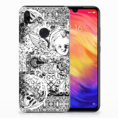 Silicone Back Case Xiaomi Redmi Note 7 Pro Skulls Angel