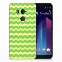 HTC U11 Plus TPU bumper Waves Green