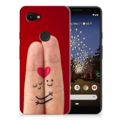Google Pixel 3A Silicone Back Cover Liefde - Origineel Romantisch Cadeau