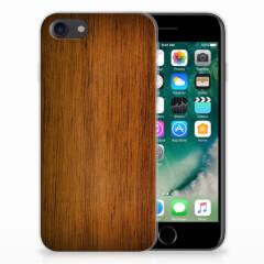 iPhone SE (2020) | 7/8 Bumper Hoesje Donker Hout