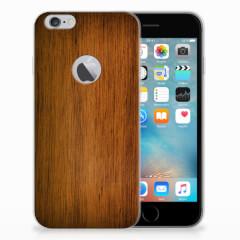 Apple iPhone 6 Plus   6s Plus Bumper Hoesje Donker Hout