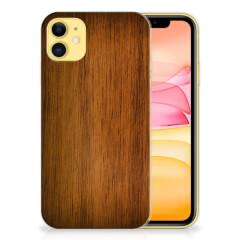 Apple iPhone 11 Bumper Hoesje Donker Hout
