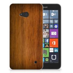 Microsoft Lumia 640 Bumper Hoesje Donker Hout