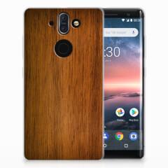 Nokia 9 | 8 Sirocco Bumper Hoesje Donker Hout