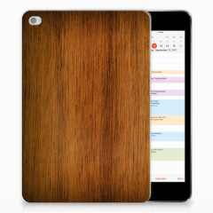 Apple iPad Mini 4 | Mini 5 (2019) Silicone Tablet Hoes Donker Hout