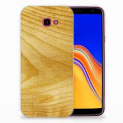 Samsung Galaxy J4 Plus (2018) Bumper Hoesje Licht Hout